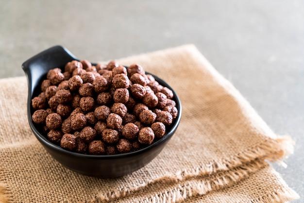 Bol de céréales au chocolat