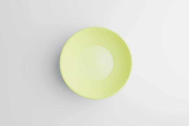 Bol jaune sur fond blanc, rendu d'illustration 3d