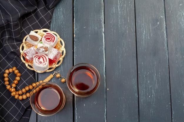 Bol de lokum turc traditionnel bouchent