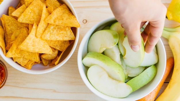 Bol à nachos vs bol à fruits