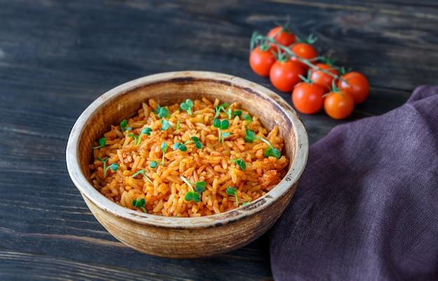 Bol de riz mexicain
