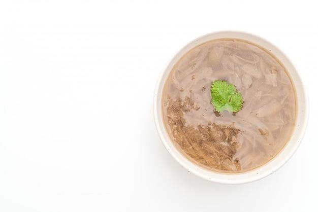 Bol à soupe à l'oignon avec fond
