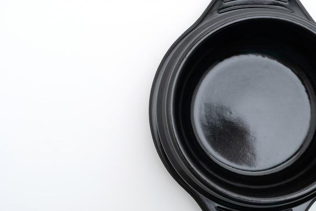 Bol de soupe vide noir (pot en argile) dans le style coréen