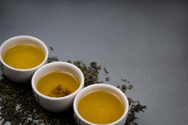 Bols à thé vert