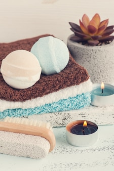 Bombes de bain, composition de spa