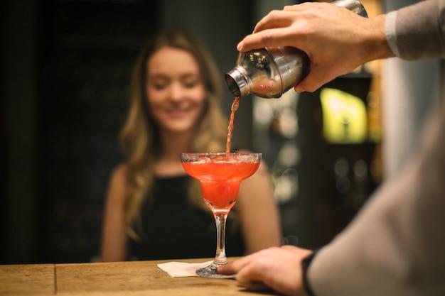 Bon cocktail pour une jolie femme