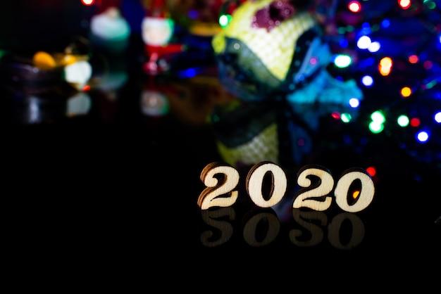 Bon numéro de bois 2020 décoration de noël