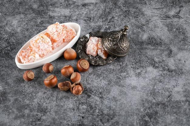 Bonbons à l'arôme d'orange aux noix