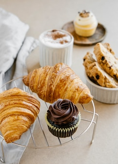 Bonbons au four et café