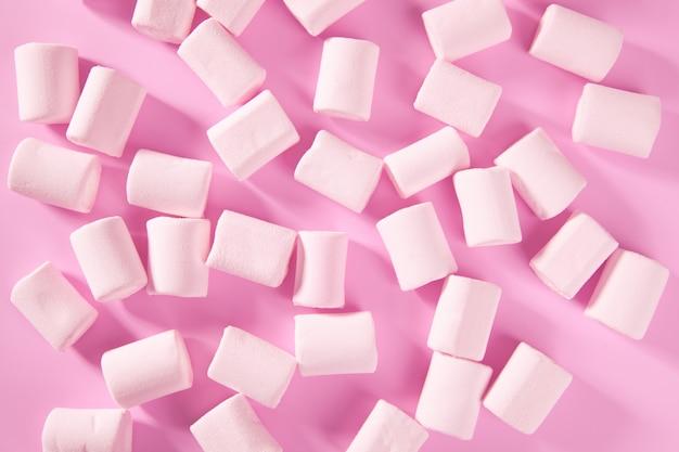 Bonbons bonbons guimauve rose