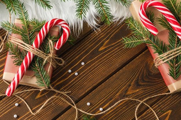 Bonbons et cadeaux de noël du nouvel an