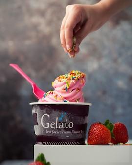 Bonbons à la crème glacée à la fraise
