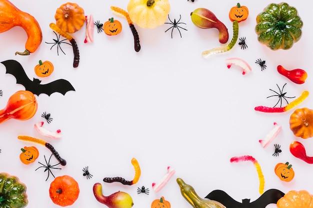 Bonbons et décoration pour halloween
