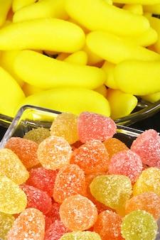 Bonbons à la gelée colorés