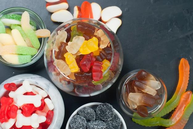 Bonbons à la gelée différents