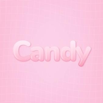 Bonbons En Mot Dans Le Style De Texte Rose Bubble-gum Photo gratuit