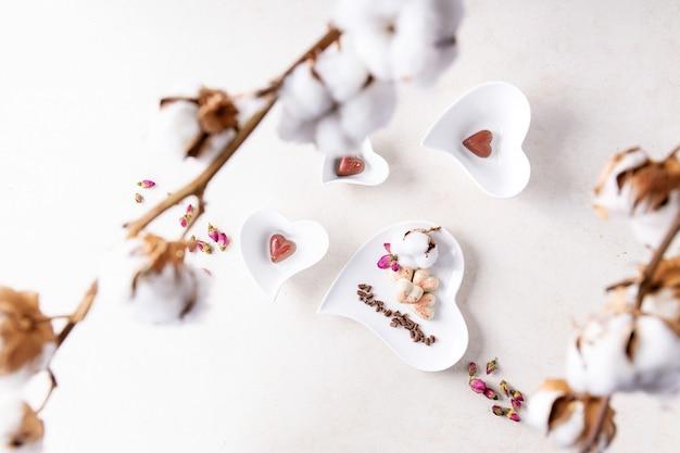 Bonbons saint valentin en forme de coeur