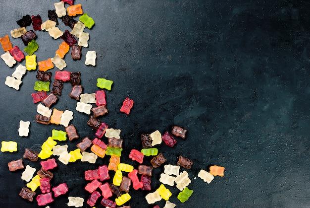 Bonbons savoureux gelée mixte de bonbons colorés
