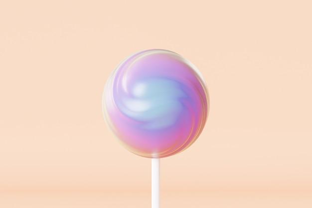 Bonbons sucette colorés sur bâton