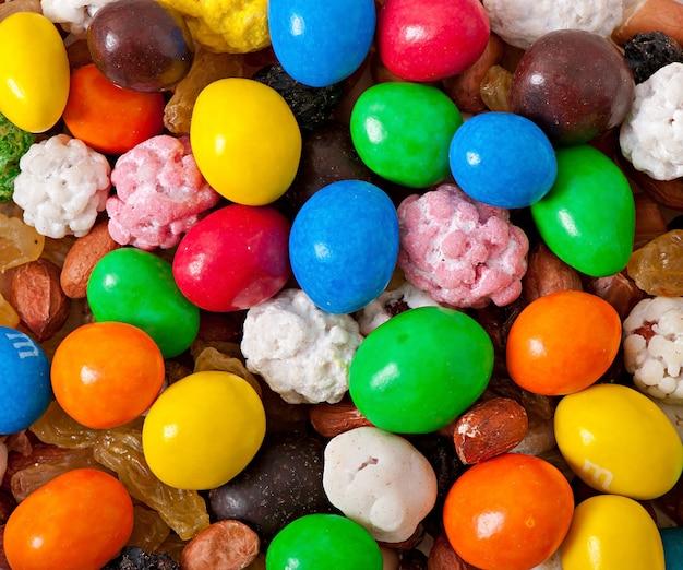 Bonbons sucrés colorés