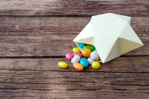 Bonbons sucrés multicolores