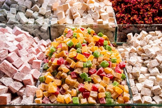Bonbons turcs sur le marché