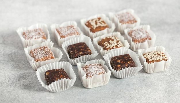 Bonbons végétaliens bonbons faits à la main utiles desserts légers à base de légumes
