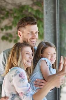 Le bonheur est réel lorsque vous êtes en famille