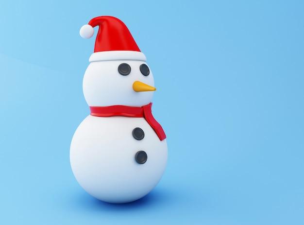 Bonhomme de neige 3d, concept de noël