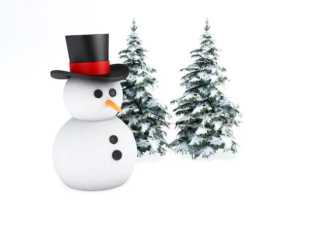 Bonhomme de neige 3d.