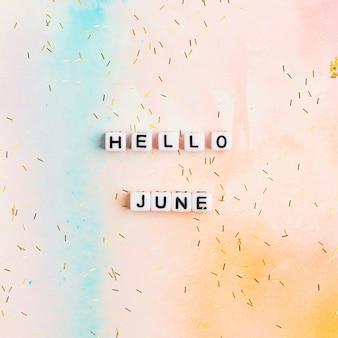Bonjour juin, citation avec des perles