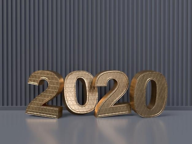 Bonne année 2020 concept - rendu 3d