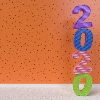 Bonne année 2020 rendu 3d