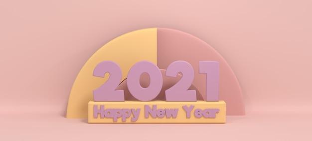 Bonne année 2021 abstrait