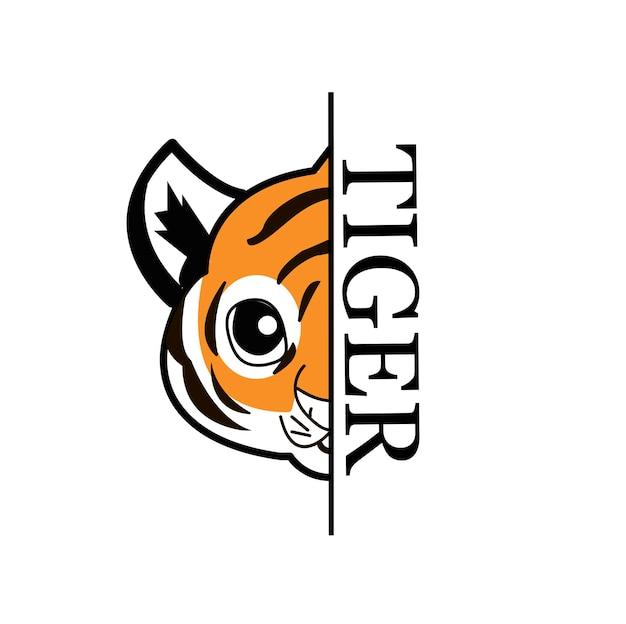 Bonne année 2022 année du tigre dessinant des lignes noires et blanches de tigre avec le tigre pour l'affiche, la brochure, la bannière, la carte d'invitation. isolé sur fond blanc.