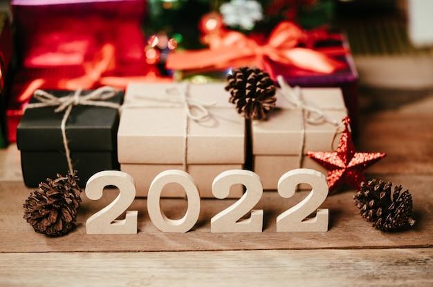 Bonne année 2022 fond et bannière de vacances.