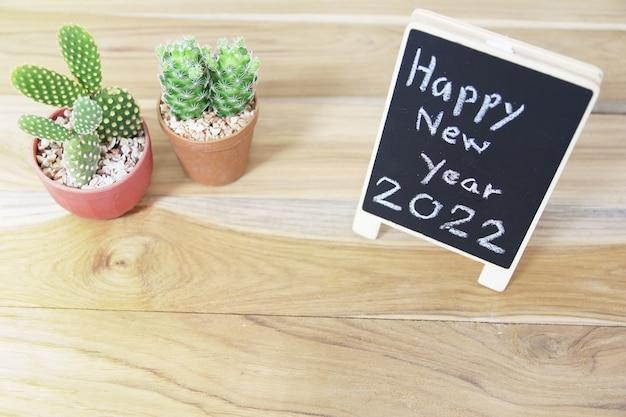Bonne année 2022 signe de tableau noir pour le fond