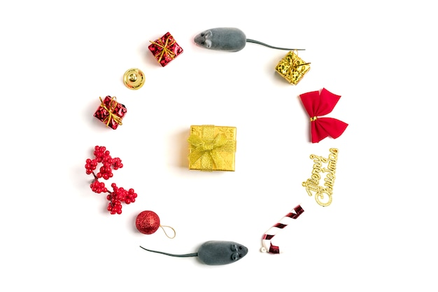 Bonne année. année du rat selon le calendrier chinois