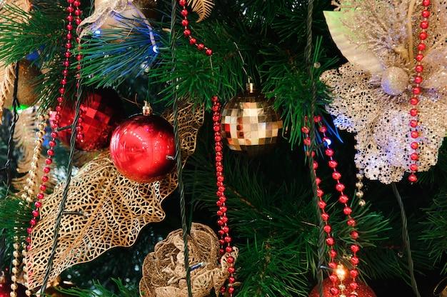 Bonne année et fond de carte de décoration joyeux noël