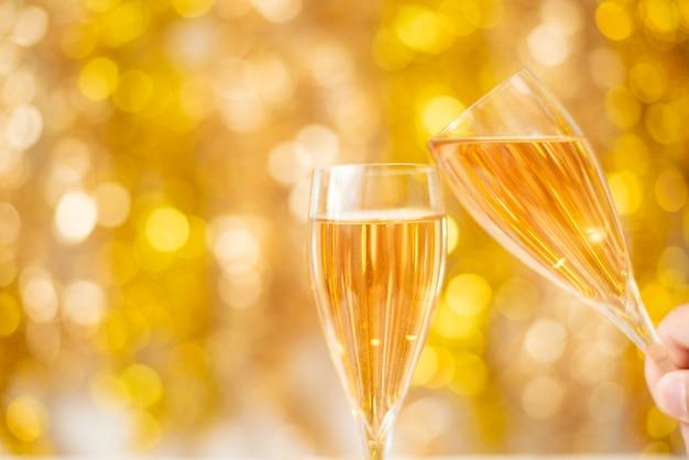 Bonne année, gold bokeh