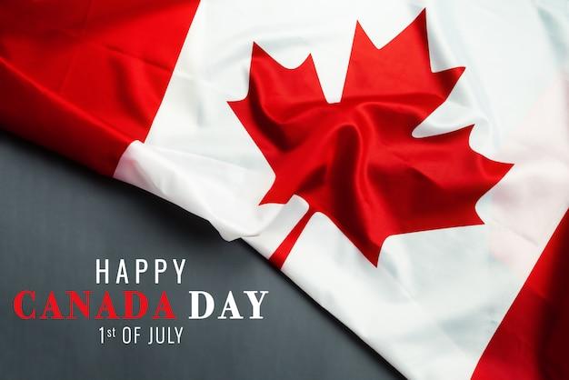 Bonne fête du canada avec fond de drapeau du canada