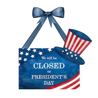 Bonne fête des présidents. inscription de félicitations pour les vacances.
