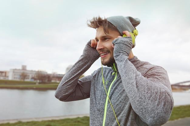 La bonne musique est une motivation pour courir