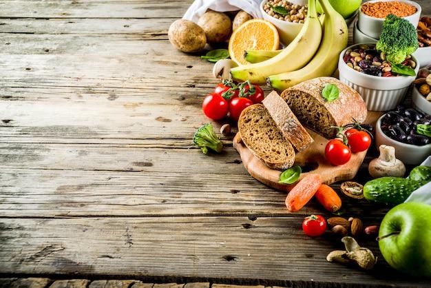 Bonne nourriture riche en fibres de glucides