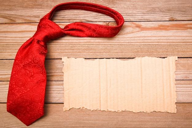 Bonne saint valentin amour de vacances et surface de cadre de cravate masculine