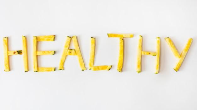 En bonne santé