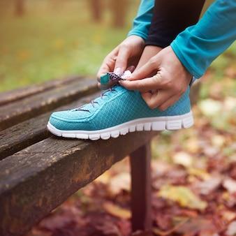 De bonnes chaussures sont la base de la course