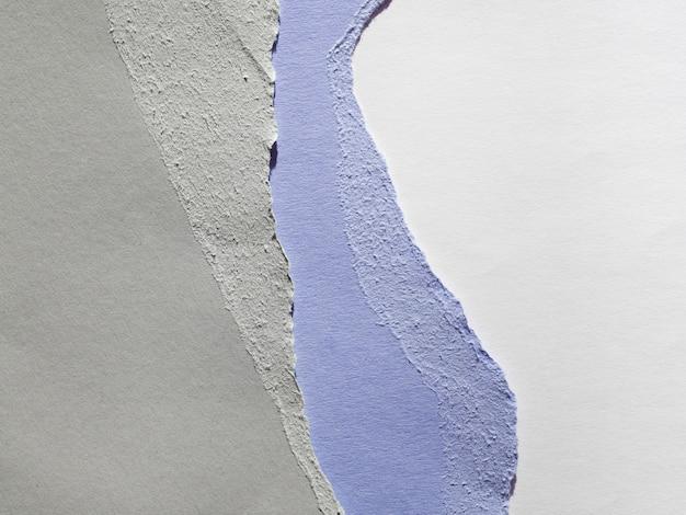 Bords de papier déchirés multicolores