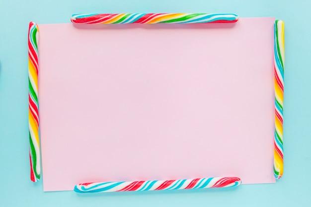 Bordure de bâtonnets de bonbons
