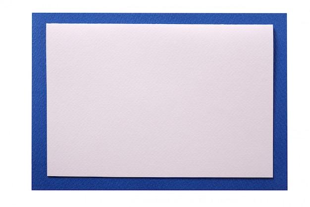 Bordure bleue de carte d'invitation de noël isolée